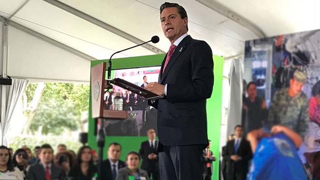 Enrique Pe�a Nieto, presidente de M�xico.