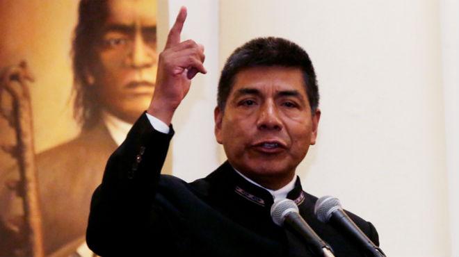 Fernando Huanacuni, canciller boliviano.