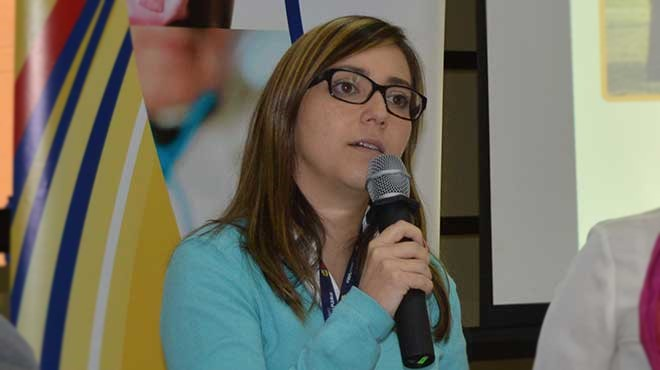 Ver�nica Espinosa, minstra de Salud.