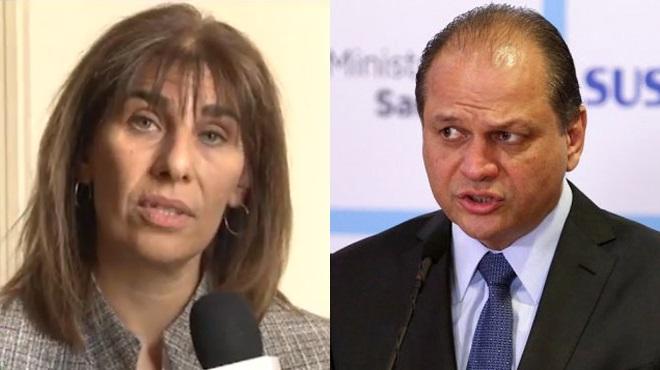 Patricia Angeleri, directora de Epidemiolog�a del Ministerio de Salud de Argentina; Ricardo Barros, ministro de Salud P�blica de Brasil.
