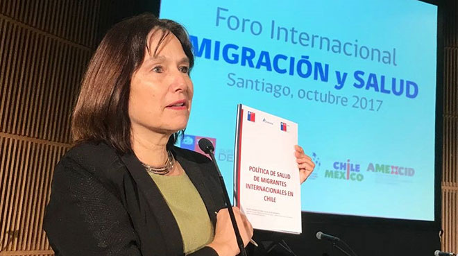 Carmen Castillo, ministra de Salud de Chile.