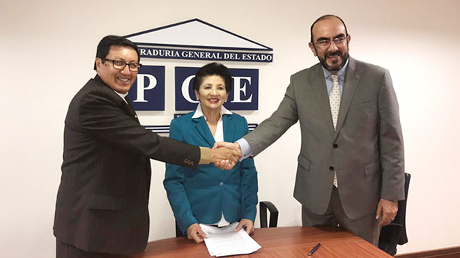 Representantes de la Di�cesis de Latacunga y del MSP firmaron el acuerdo