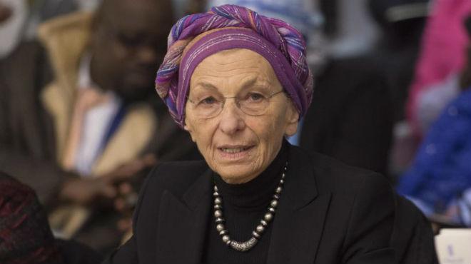 "La exministra italiana de Exteriores Emma Bonino asiste a la conferencia ""Prohibici�n Mundial a la Mutilaci�n Genital Femenina""."
