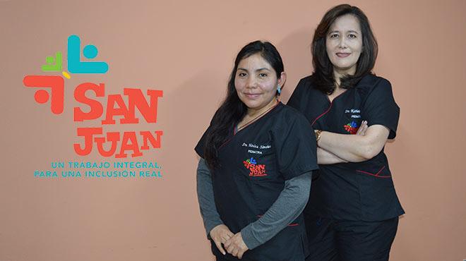 M�nica S�nchez y Katherine Velarde, pediatras de la Fundaci�n Centro San Juan de Jerusal�n.
