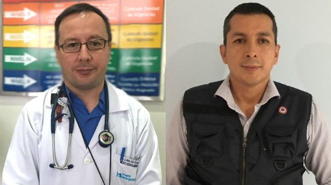 Carlos Polanco, Hospital Metropolitano y Carlos Cabascango, UDLA.