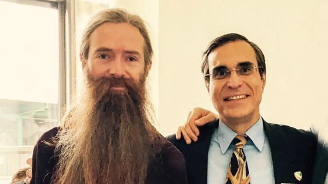 Aubrey de Grey y Jos� Luis Cordeiro.