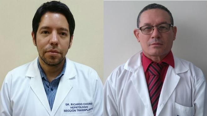 Ricardo Chong del HCAM y Eugenio Su�rez del Hospital Guayaquil.