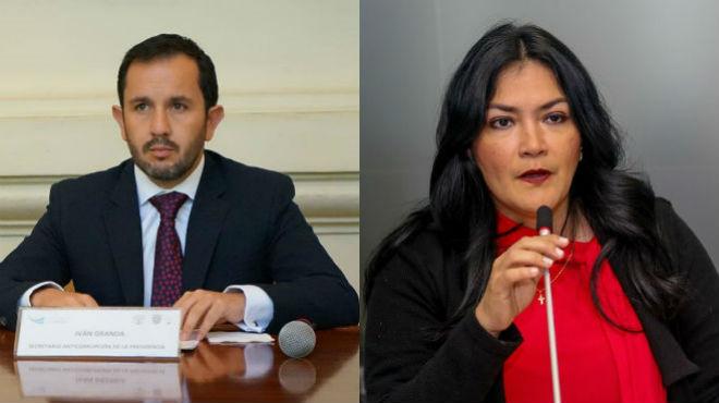 Iv�n Granda y Catalina Andramu�o.