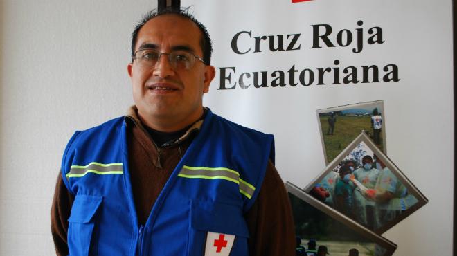 Henry Ochoa, Cruz Roja Ecuatoriana.