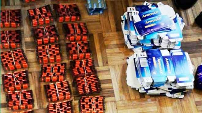 Los medicamentos irregulares se encontraron en un domicilio y tres locales comerciales de Quito.