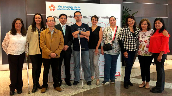 Pacientes de esclerosis m�ltiple en Ecuador.