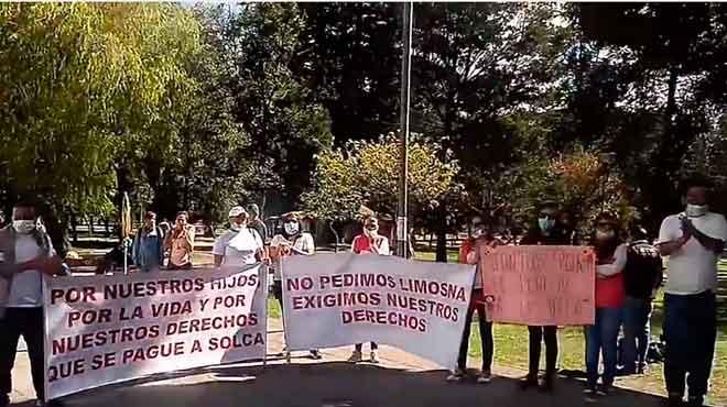 Manifestación en Quito.