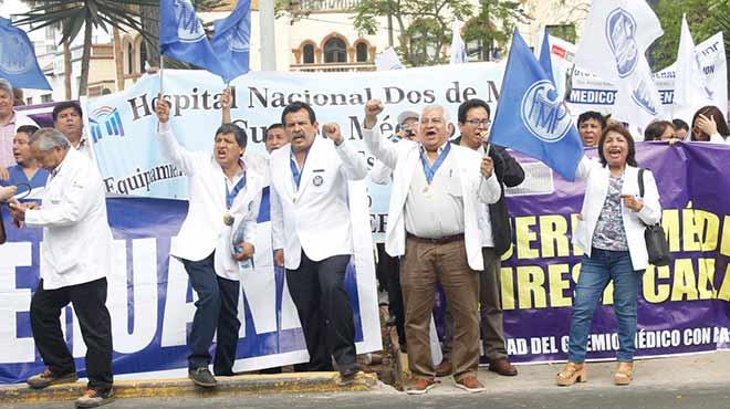 Médicos en paro nacional.