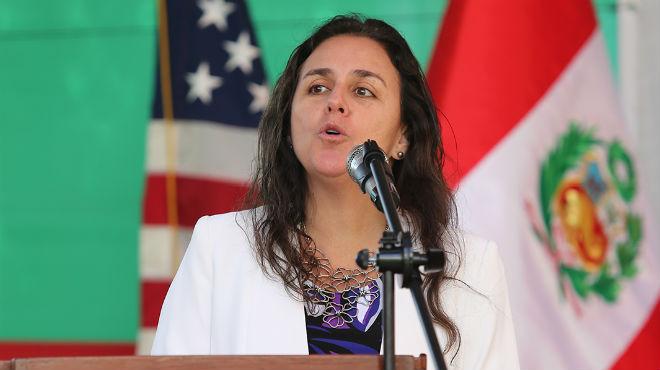 Patricia Garc�a, ministra de Salud de Per�.