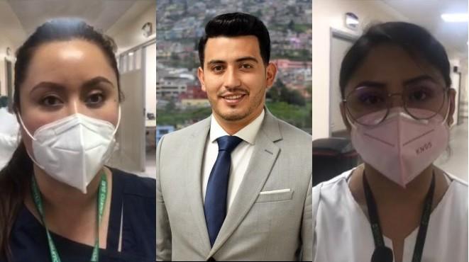 Mar�a Fernanda Orozco, �lvaro Gaibor y Erika Le�n del IESS Quito Sur.