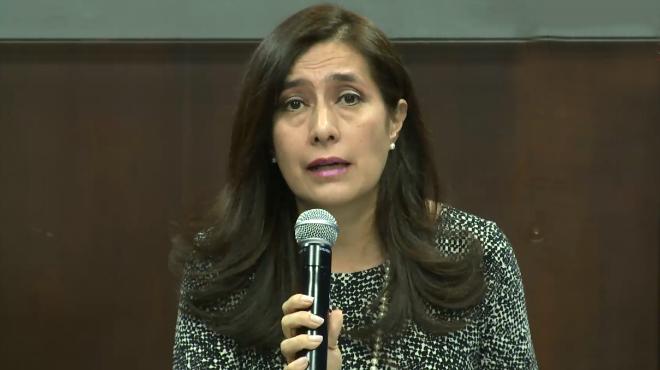 Johana Pes�ntez, secretaria jur�dica de la Presidencia.