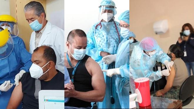 Julio Vel�squez, emergenci�logo del Hospital Guasmo Sur; Jorge V�lez, l�der UCI del HPAS; Jeanneth Morales, l�der Emergencias del Hospital Militar Quito.