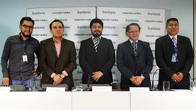 Diego Aliaga, MSP; Juan José Ambrosi, de la SED; Jonathan Veletanga, Redacción Médica; Raúl Auquilla Ortega, asambleísta y Patricio Bracero, Inamhi.