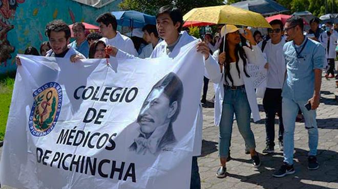 Protestas estudiantes de Ciencias de la Salud.