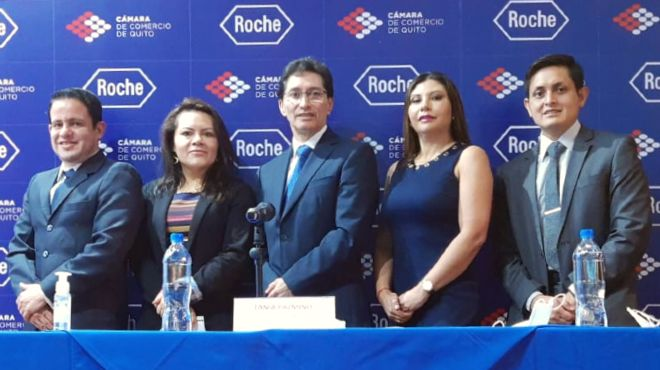 Christhian Chamba, Lenis Ortiz, Luis Villegas, Tania Pazmiño y Fausto Díaz.
