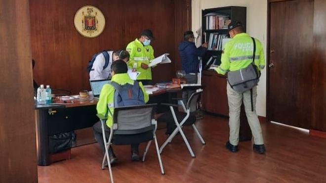 Allanamiento a las oficinas de la Secretar�a Municipal de Salud.