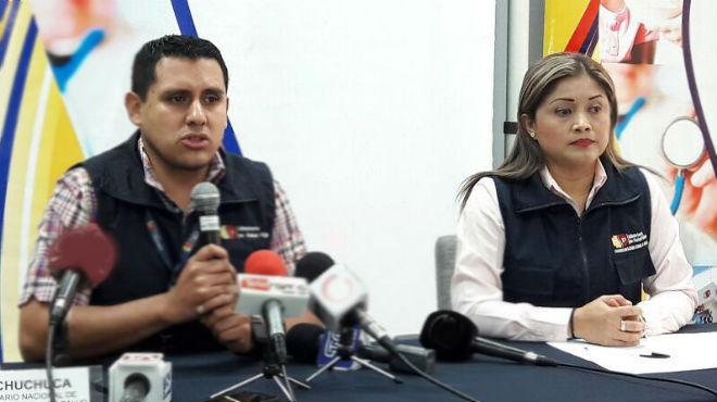 Juan Chuchuca y Mariana Pihuave.