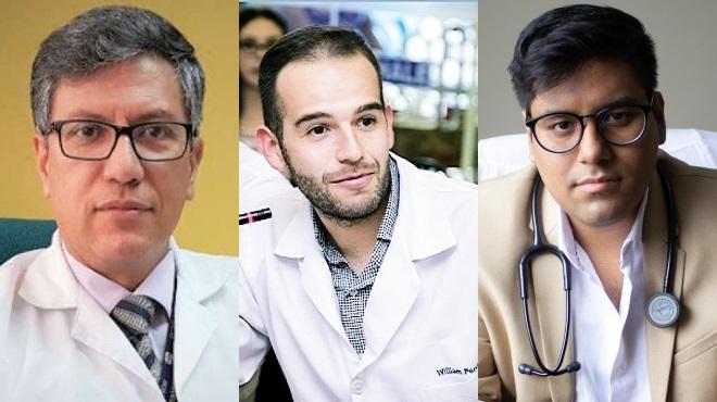 V�ctor �lvarez, presidente del CMP, William Perugachi, presidente de AESE, y John Farf�n, presidente de Anamer.