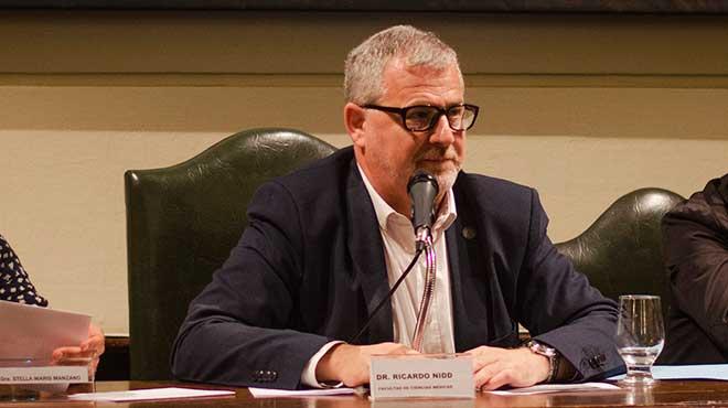 Ricardo Nidd, decano de Medicina de la UNR.