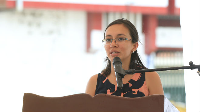 Sandra Naranjo, vicepresidenta del Ecuador.