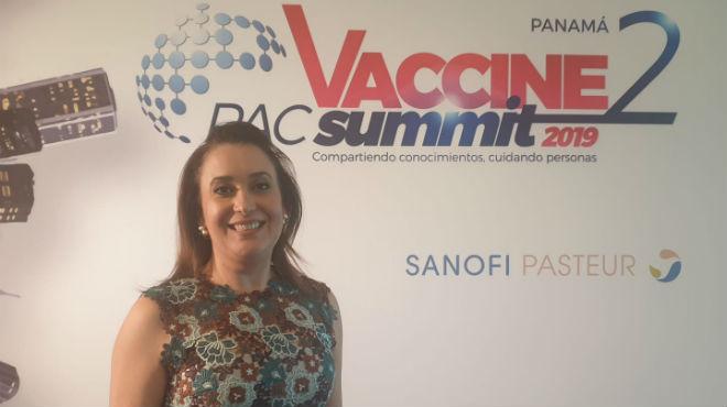 Mar�a Beatriz Baldos, directora m�dica de Sanofi Pasteur para los pa�ses del Pacifico, Am�rica Central y el Caribe.