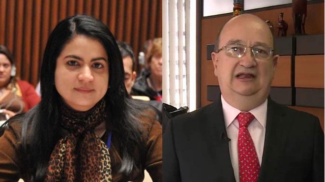 Marta Luc�a Ospina, directora del INS; Fernando Correa Serna, viceministros de Salud P�blica.