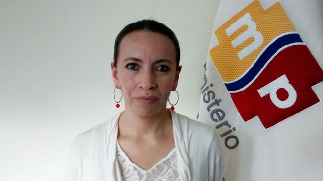 Silvia Jara, directora distrital 14 D01 Morona Santiago.