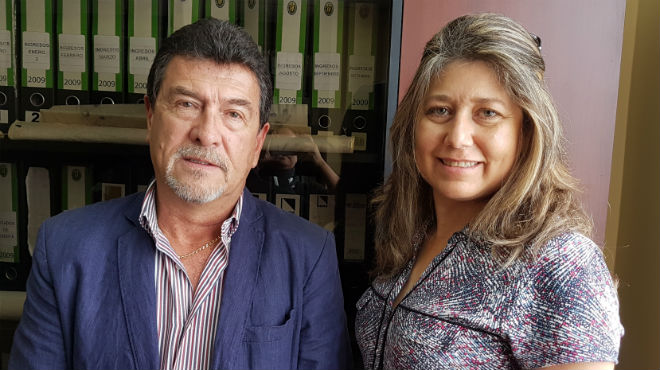 Hugo Garc�a y Lucia Cede�o, directivos de Suyana.
