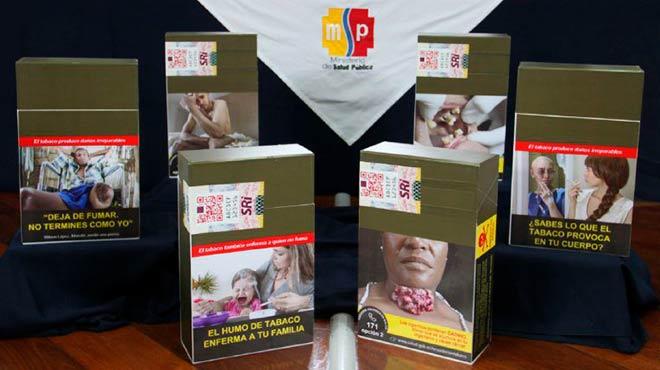 Nuevas advertencias sanitarias de las cajetillas de tabacos.