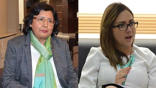 Gina Tambini y Ver�nica Espinosa.