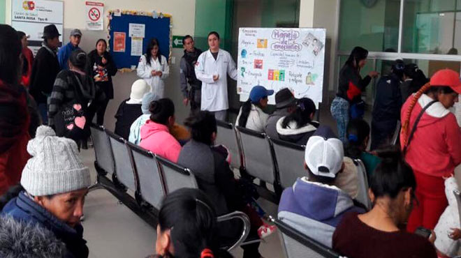 MSP realiza charlas en unidades médicas de la zona.