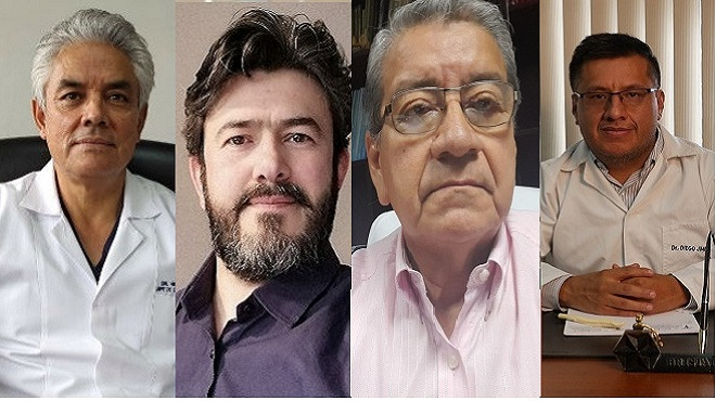 Henry Caballero, Rodrigo Henr�quez, Jorge Moncayo, Diego Jimbo.